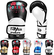 Raytos Kids Boxing Gloves Kickboxing Punch Mitts Muay Thai Mixed Martial Arts Pro Grade PU Sparring Training G