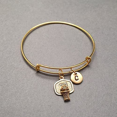 Basketball Charm Bracelet: Amazon.com: Basketball Hoop Bangle, Basketball Hoop Charm
