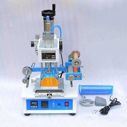 110V Pneumatic Hot Foil Stamping Press Machine Stamp 116x120mm Logo Printer by Wotefusi