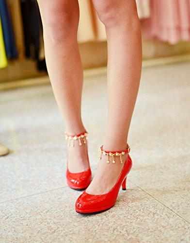 tanches Plat Simples Des Impermables Jing lgantes Femme Les Et Hauts Avec Hautes Pour Fine Talons Bout Chaussures qqaO0