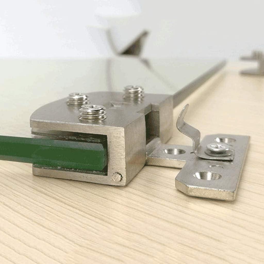 sin taladros l accesorio para muebles Abcidubxc Bisagra para puerta de cristal Aleaci/ón de cinc BK 2 unidades