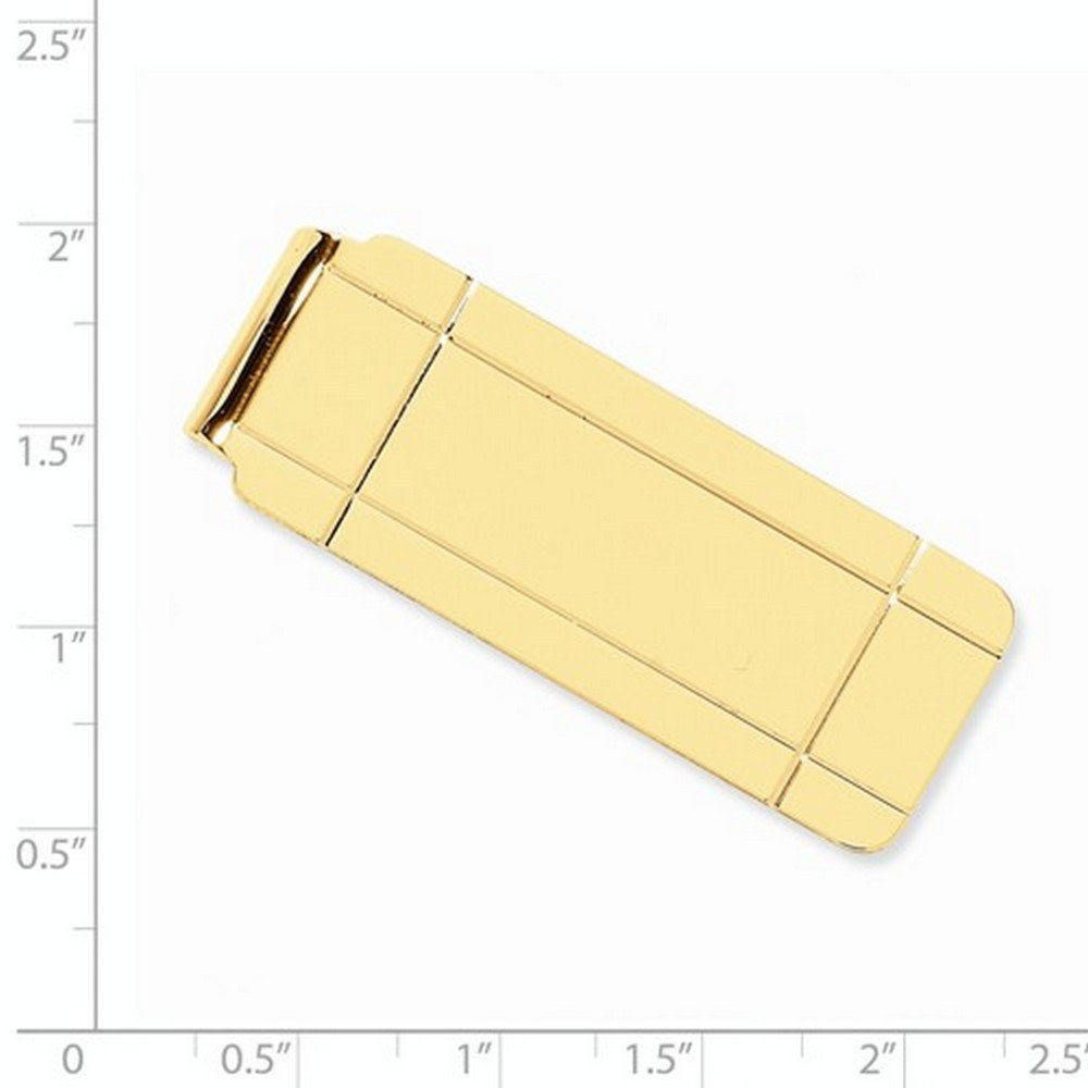 Mens Boxed Design Money Clip Plain Metal 14k Yellow Gold