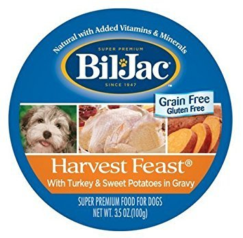 Bil-Jac Harvest Feast Turkey and Sweet Potatoes 3.5 Ounces Wet GrainFree Dog Food (Pack of 12)