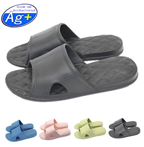 Adult Slide Foams black Non Slip Shoes Slippers On Pool Shower slip Mule Sole Sandals House Bathroom for Soft azHqz64nT