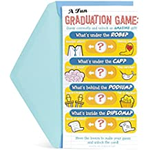 Hallmark Money Holder or Gift Card Holder Funny Graduation Greeting Card (Graduation Quiz Game to Unlock Card)