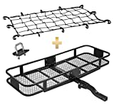 """jeep wrangler thule rack - Mockins Hitch Mount Cargo Carrier & Net 