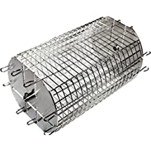 """OneGrill Performer Series Universal Fit Grill Rotisserie Spit Rod Basket (Fits 1/2"""" Hexagon & 3/8"""" Square Spits)"""
