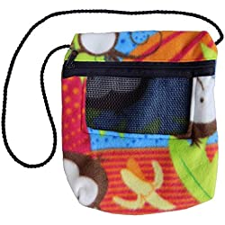 Bonding Carry Pouch for Sugar Gliders and Other Small Pets (Monkey)