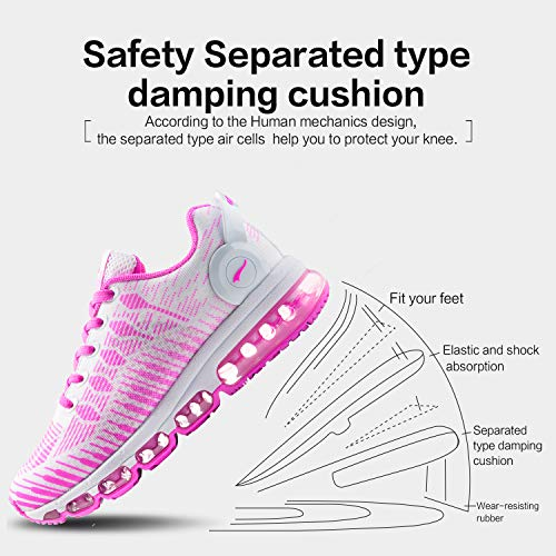 Men Pink Athletic Women Cushion ONEMIX Shoes Air for Sneakers Casual Running FwqAa8