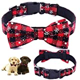 Dog Cat Collar | Dog Cat Bow Ties | Dog Collar | Cat Collar | Pet Gift | Christmas Pet Collar | Dog Bowtie Christmas | Red Colour |Collar Length 13.5