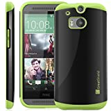 GreatShield® HTC One (M8) Case [NEON] Protective Hybrid Case Cover for HTC One (M8) 2014 (Green)