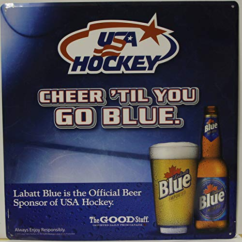 Labatt Blue Light Metal Sign USA Hockey Cheer til You for sale  Delivered anywhere in USA
