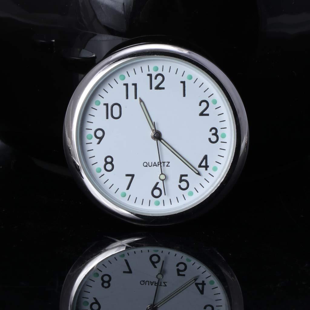 VAILANG Orologio da Auto Universale Stick-On Orologio elettronico Cruscotto Decorazione nottilucenti per Auto SUV Orologio da Auto Nero