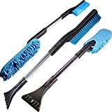 Snow Brush- 3 in 1 Car Scraper Snow Remover Brush Tool Multifunctional Car Ice Scraper Snow Brush Scratch Automotive Snow Brush, Removable and Assembled Windshield Ice Scraper
