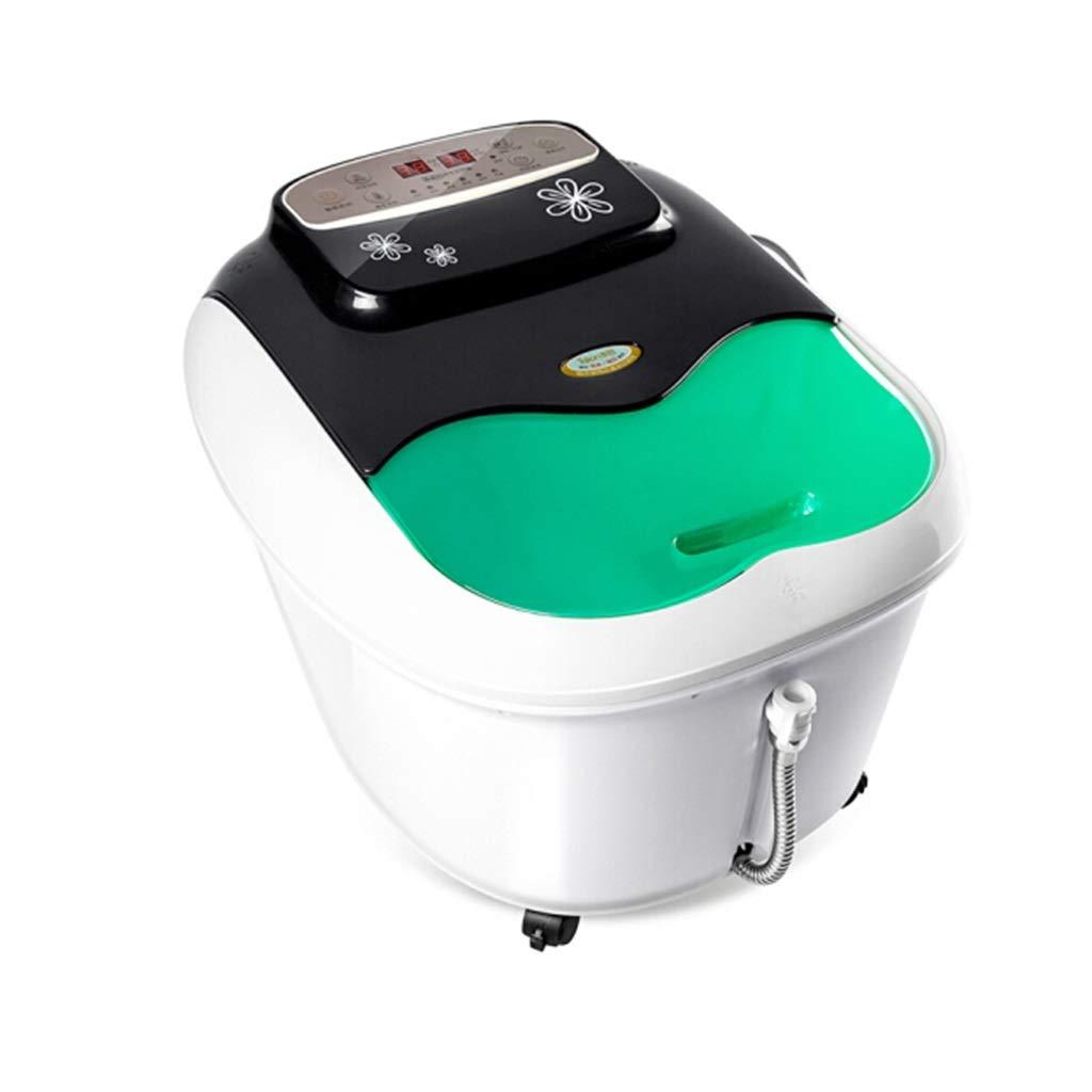 フットバスマッサージャー、フットスパーマシンフィート浸漬浴槽特徴振動、温泉付きスパローラーマッサージモード B07T3S812G