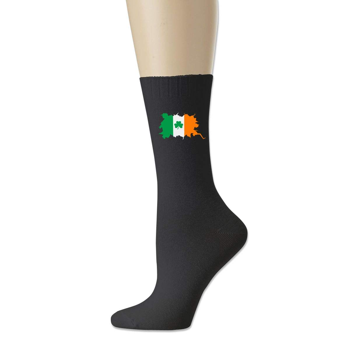 Shamrock Ireland Irish Flag Cotton Crew Bobbysox Ski Socks Unisex Soccer Socks