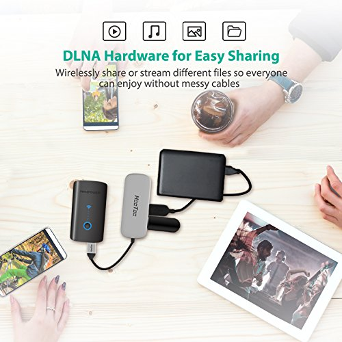RAVPower FileHub Plus, Wireless Travel Router, SD Card Reader USB Portable Hard Drive Companion, DLNA NAS Sharing Media Streamer 6000mAh External Battery Pack (Not a Hotspot) by RAVPower (Image #6)