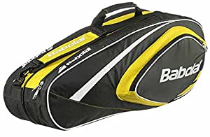 BABOLAT Club Line 6 Racquet Bag, Black/Yellow, One Size