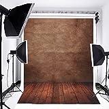 MOHOO 5X7ft Photography Background Backdrop Concrete Wall Floor Studio Photo Props 1.5X2.1m
