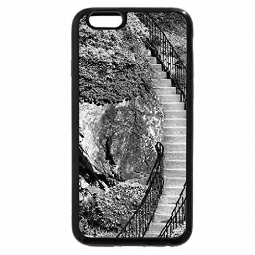iPhone 6S Case, iPhone 6 Case (Black & White) - Mountainside Wild Flowers