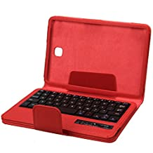 NEWSTYLE Removable Wireless Bluetooth Keyboard Protective Case For Samsung Galaxy Tab A 8.0 inch Tablet (Red)