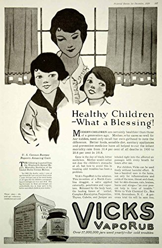 1920-ad-vicks-vaporub-mentholated-ointment-salve-healthy-children-greensboro-nc-original-print-ad