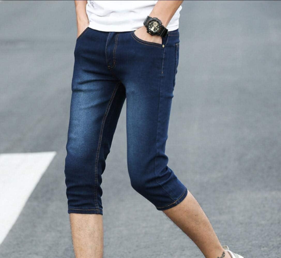 Pantalones Cortos de Ajuste cl/ásico de Verano para Hombre Pantalones Casuales de algod/ón con cord/ón Pantalones Cortos de Entrenamiento de Playa