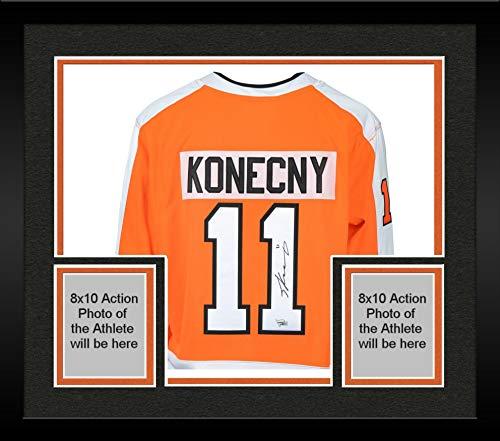 Framed Travis Konecny Philadelphia Flyers Autographed Orange Fanatics Breakaway Jersey - Fanatics Authentic Certified