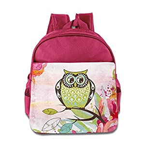 Barriory The Owl Animals Design Kids Shoulders Bag Pink