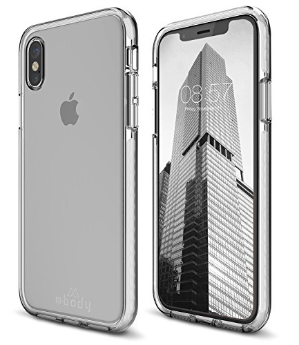 Mbody by Aduro iPhone X/Xs Case, Lucent PRO Clear Protective Slim Cover Silicone Case with Extra Rugged Edge to Edge TPU Gel Protection for Apple iPhone X/Xs/iPhone 10 -