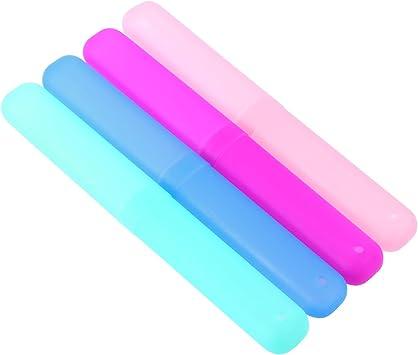 Artibetter 4Pcs Estuche para cepillos de dientes de viaje Maletas para cepillos de dientes a prueba de polvo Soporte para cepillos de dientes para uso diario y de viaje: Amazon.es: Salud y