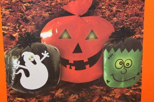 Halloween Glow in the Dark Lawn Bags - -