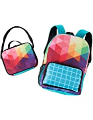 Children Back to School Supplies Nylon Shoulder Backpack and Lunch Tote Bag