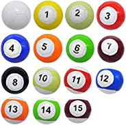 POISON BEAUTY 16 Pcs Gaint Snookball Snook Ball Snooker Street Soccer Ball Game Huge Billiards Pool Football S