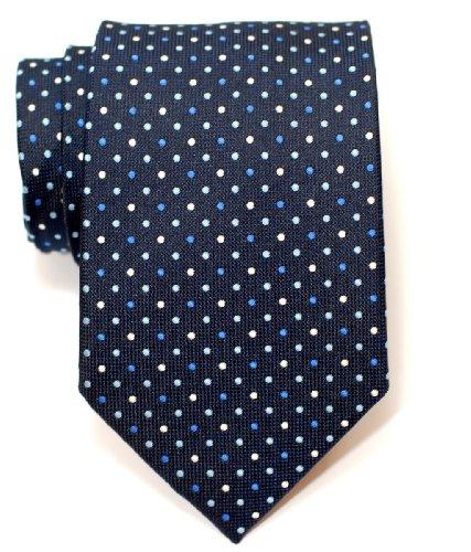 Men's Dots Navy Three Blue 5 Woven Colors Polka Colour Tie Retreez Necktie Vintage IgxPgY