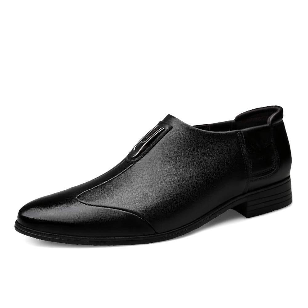 Ruanyi Business Oxford Casual Einfache Klassische Spitze Formale Schuhe Braun Schwarz Farbe Für Männer (Farbe   Schwarz, Größe   39 EU)