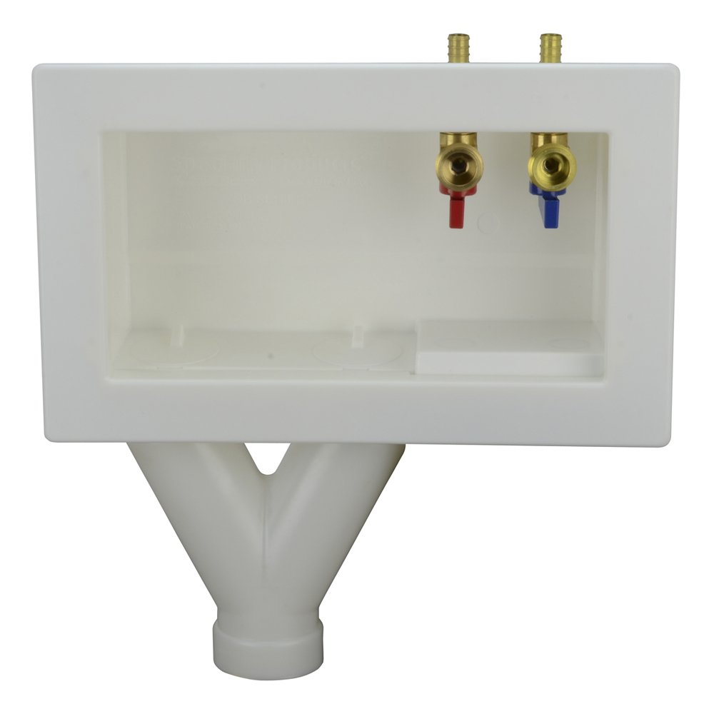 LSP OB-705-TOP Assembled Outlet Box with Pex Valves, Tornado White