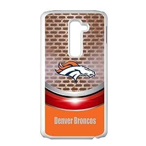 Denver Broncos West NFL Team Logo Two NFL Championships Personalized Plastic Case for LG G2 (Fit for AT&T)