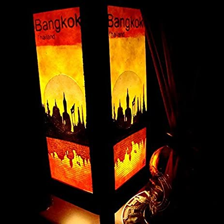 Amazon.com : Bangkok City Sun Riverside Handmade Asian Oriental Wood ...
