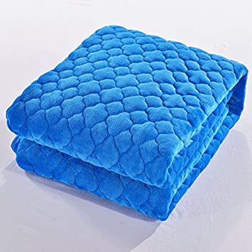 Znzbzt Ropa de cama gruesa manta suave doble colchoneta ...