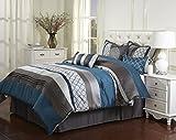 Nanshing America Casbah 7 Piece Comforter Set, Queen, Teal