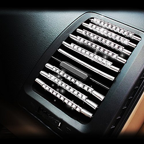 Car Decorative line Stickers Air Conditioning Vent Diamond Crystal Decoration ()