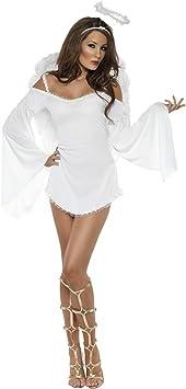 Desconocido Disfraz de ángel sexy para mujer: Amazon.es ...