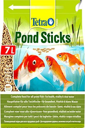 Tetra Pond Sticks 7 L – Alimento para peces de estanque, para peces sanos y agua clara, diferentes tamaños