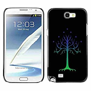 Shell-Star ( Cool Abstract Tree Stars ) Fundas Cover Cubre Hard Case Cover para Samsung Galaxy Note 2 II / N7100