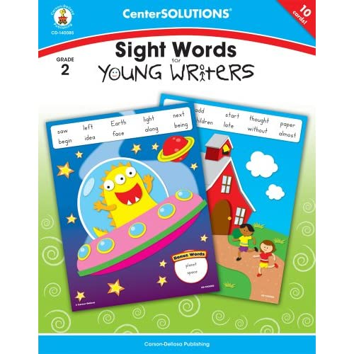 Sight Words for Young Writers, Grade 2 (Centersolutions Tear-Away Books) Carson-Dellosa Publishing