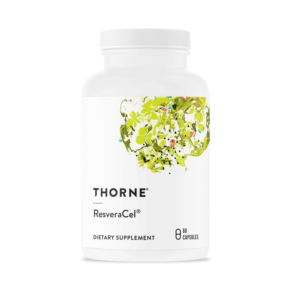 Thorne Research - ResveraCel - Nicotinamide Riboside (Niagen) with Resveratrol and Cofactors in One Capsule - Supports Healthy Aging - 60 Capsules by Thorne Research
