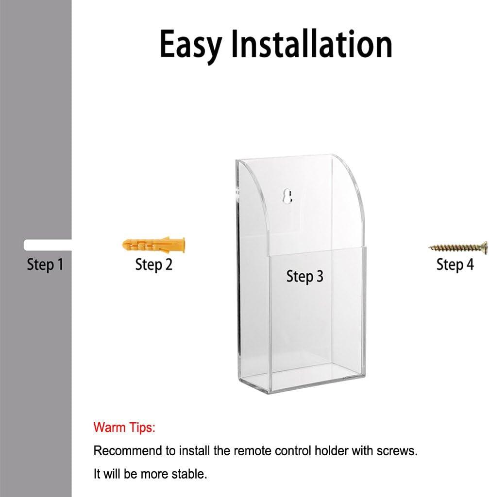 Soporte de pared hecho de acrílico transparente para mando a distancia de BTSKY, mando a distancia de aire acondicionado, tv, etc Transparent, 1-Case: Amazon.es: Electrónica