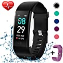 KITPIPI Fitness Activity Tracker Watch with Heart Rate Monitor