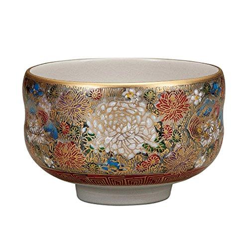 Kutani tea bowl Hon-kinhanatsume by Kutani